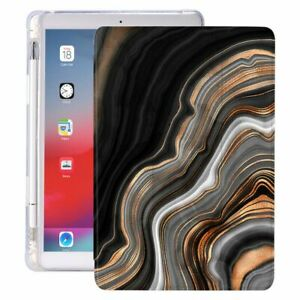 Marble Pattern Case Cover For iPad Pro 2020 10.5 Pencil Holder 10.2 inch 8th