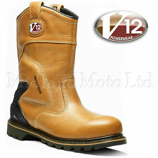 V12 Tomahawk Vintage Waterproof Safety Rigger 09 UK 43 EU Tan