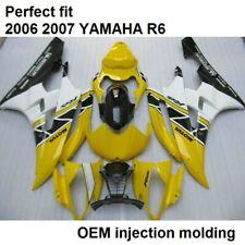 Verkleidung Komplett Yamaha YZF R6 RJ11 2006 2007 Gelb Schwarz Weiß Neu ABS