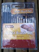 15 ARTISTS PURE BRISTLE PAINT BRUSHES AIRFIX MODELLING