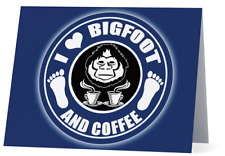 I Love Bigfoot and Coffee! Bigfoot Stationary Note Cards set of 10