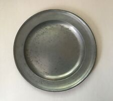 Antique Pewter  ROUND  PLATE  -  FGUC  no maker mark  8+in  c1830