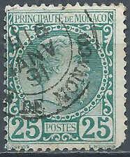 Monaco - 1885 - Prince Charles III - N° 6 - Oblitéré - used