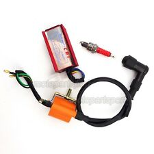 Spark Plug Racing Ignition Coil CDI For 50cc 70cc 90cc 110cc Loncin Taotao Quad