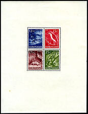 Surinam 263a S/S, MI Bl.1, Mint. Catfish, Macaw, Armadillo, Common iguana, 1955