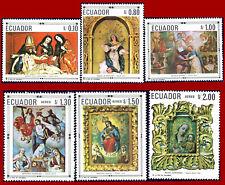 Ecuador 1968 ART, Virgin, Madonna, religious paintings, * MLH, Mi 1403-1408