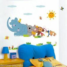 Wall decal stickers kids boys girls jungle baby zoo animal playroom sign DC4