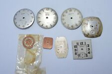Lot of 8 Vintage ''BENRUS'' Watch Dial parts