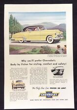 1952 Vintage Lot Automobile Magazine Ads ~ Chevrolet Bel Air & DeLuxe Coupe
