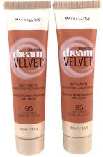 (2) Maybelline Dream Velvet Soft-Matte Foundation New & Sealed 95 - Coconut