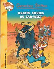 GERONIMO STILTON N°32 Quatre souris au far-west livre jeunesse
