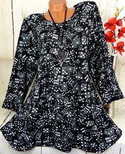 Leins Designer Kleid Tunika Bluse Shirt Top Longshirt A-Linie Schwarz M 38 40
