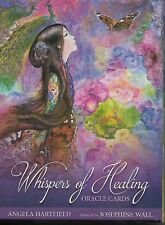 WHISPERS OF HEALING ORACLE CARDS By: ANGELA HARTFIELD 50 CARDS AND GUIDEBOOK