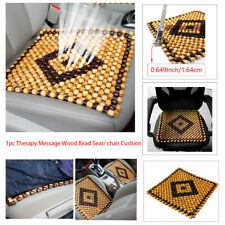 Summer Cool Car Seat Cover Cushion Pad Massage Natural Wood Bead Comfy Therapy