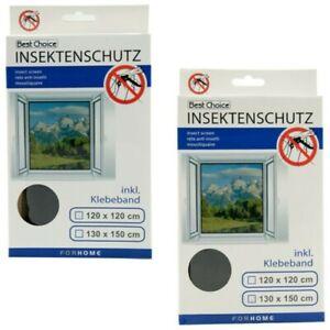Best Choice Moustiquaire Pour Fenêtre 120x120 Ou 130x150 Insectes Klettb