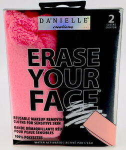 Danielle Creations Erase Your Face Reusable Makeup Removing Cloth 2 Pack