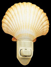 Real Seashell Night Light Mexican Deep Scallop  Shell Nautical Beach Decor Gift.