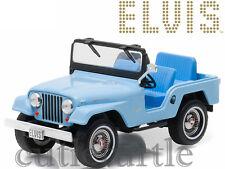 Greenlight Elvis Presley 1996 Jeep CJ5 1:43 Diecast Model Car Blue 86310