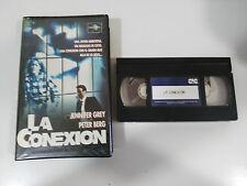 LA CONEXION TAPE VHS TAPE CINTA COLECCIONISTA JENNIFER GREY BERG PROMOCIONAL !