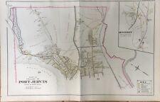 ORIG 1903 PORT JERVIS HUGUENOT DEER PARK ORANGE COUNTY NY MUELLER PLAT ATLAS MAP
