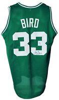 Boston Celtics Larry Bird Autographed Pro Style Green Jersey JSA Authenticated