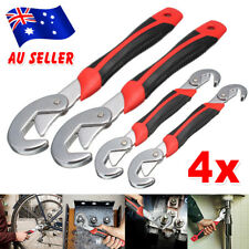 4pcs Universal Quick Snap Wrench and Spanner Adjustable Multi Function Grip Set