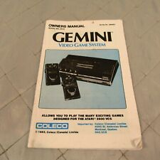 Gemini Owner's Manual Model 2510 Video Game System Coleco Atari 2600 1983