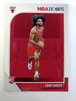 2019-20 Panini NBA Hoops Coby White #204, Rookie RC, Chicago Bulls