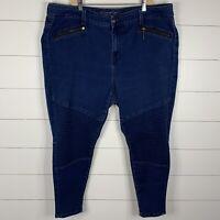 Melissa McCarthy Seven7 Womens Blue Denim Plus Size 24W Pencil Skinny Jeans
