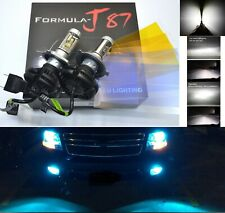 LED Kit X3 50W 9003 HB2 H4 8000K Icy Blue Head Light Two Bulbs H/L Beam Replace