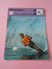 Ski Nautique Bateaux Skis et Cordes de traction Fiche Card 1977