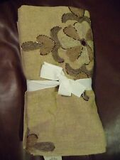 """NEW Pottery Barn Anita Embroidered Beaded Neutral Table Throw 50"""" HOLIDAY $139"""