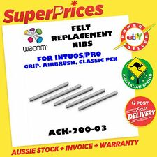 WACOM ACK-20003 REPLACEMENT HARD FELT GREY NIBS Pk5 INTUOS 4 PRO DIGITAL PEN OZ