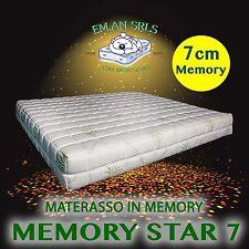 MATERASSO MATRIMONIALE MEMORY DA 7 CM ORTOPEDICO CON ALOE VERA SFODERABILE H.23