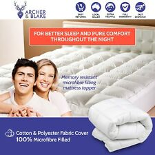 Luxury Mattress Topper Protector Pad Cover Pillowtop Memory Resistant Queen