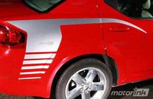 For 2008-2014 Dodge AVENGER Rear Quarter Side Panel Hockey Stick Stripes Decals
