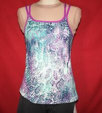 Fabletics Tahoe Tank Top Size XS Double Strap Yoga, Workout Shirt Multi Orchid