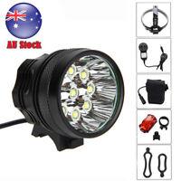 50000Lm 9x XML T6 LED Head Bicycle Lamp Bike MBT Light Torch Headlamp 16000mAh