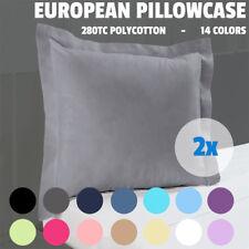 2x New Multicolor 280TC Tailored Edge Poly Cotton European Pillow case 65x65cm