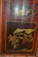Chinese Framed Bamboo Panel Hand Painted 26 x 38 C 1930  Artist Signed  #1211111