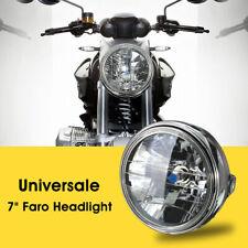 7'' Universal Motorcycle Round Headlight Halogen H4 Bulb for Honda Kawasaki AU