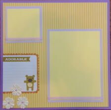 12X12 ADORABLE PURPLE YELLOW BABY PREMADE SCRAPBOOK PAGE LAYOUT MSND TONYA
