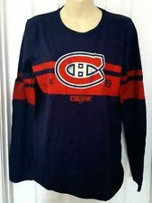 Montreal Canadiens Youth Jersey T Shirt Size XL 18 CCM Blue Distressed Logo
