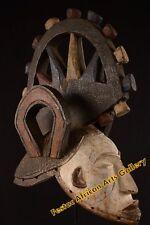 Articolato con ruote grande Igbo Maschera Nigeria Africa Fes-050