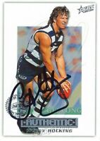 ✺Signed✺ 2001 GEELONG CATS AFL Card GARRY HOCKING