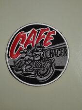 Aufnäher Aufbügler Patch Cafe Racer Motorrad Motorsport Autocross Biker Kutte