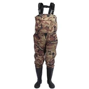 Fishing Chest Wader Camouflage Pants With Boots Waterproof Breathable Waders