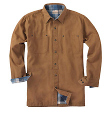 Backpacker Cotton Canvas Jacket AUTHENTIC 7006 Flannel Brown Mens Large NEW Tags