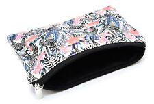 Trousse pochette rangement accessoires sac à main voyage Flamant rose Zèbre