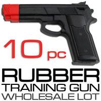 Lot of 10 Rubber Guns Karate Pistol Police Self Defense Disarm Training Practice